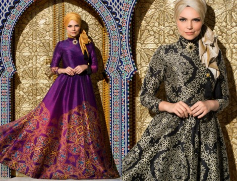 Tesettür Abiye Elbise Modelleri 2016