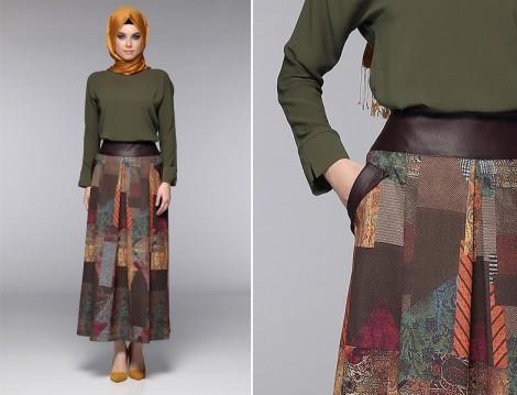 Tozlu Tesettür Giyim Etek Modelleri 2016
