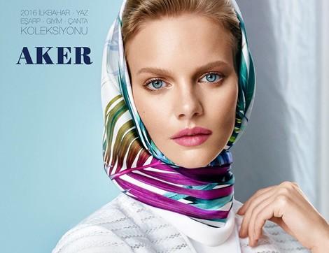 Aker 2016 İlkbahar-Yaz Eşarp Modelleri
