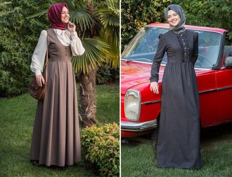 Kübra Biriktir Tesettür Elbise Modelleri