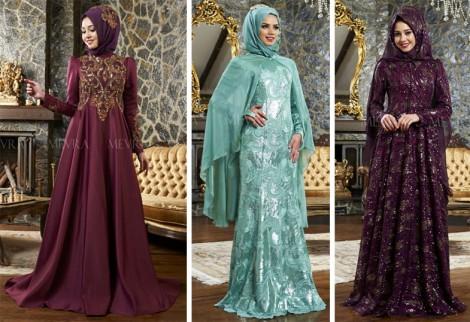 Mevra 2016 Tesettür Abiye Elbise Modelleri