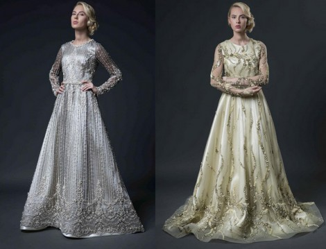 Chamay 2016 Tesettür Abiye Elbise Modelleri