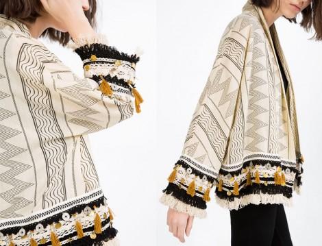Zara Püsküllü Kimono