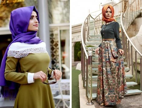 Zarif Tesettür Giyim Modelleri 2016