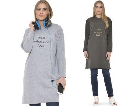 Şüşütown Mesaj Baskılı Tunik Modelleri