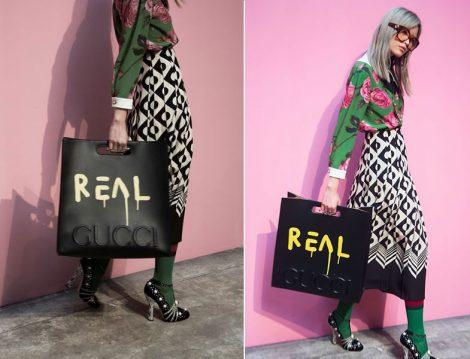 Gucci Mesaj Baskılı Çanta Modelleri