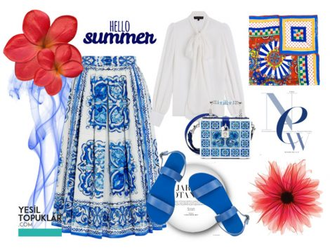 Mavi Tesettür Giyim Kombinleri 2016