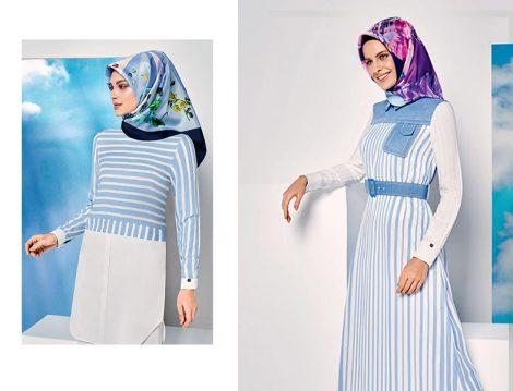Mavi Tesettür Giyim Modelleri 2016 Yaz