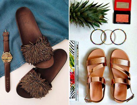İnci Deri 2016 Sandalet Terlik Modelleri