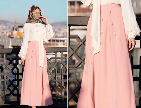Tekbir Giyim 2016 İlkbahar Yaz Esra Tekbir Etek Modeli