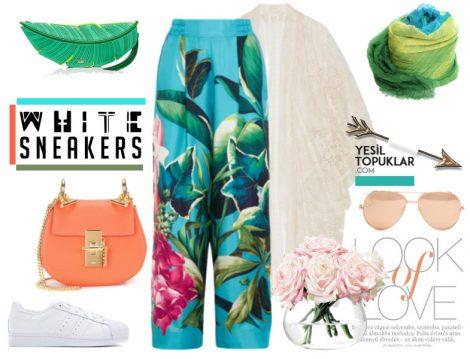 Desenli Tesettür Giyim Kombinleri