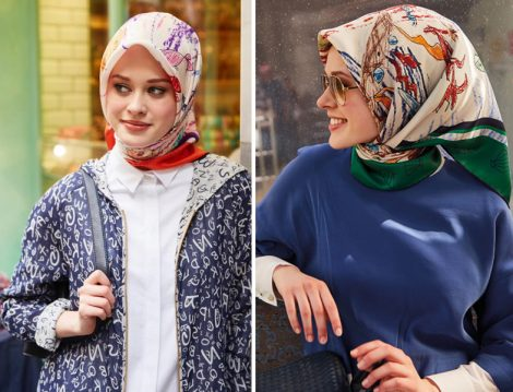 Gençler için Şal ve Eşarp Bağlama Modelleri 2016