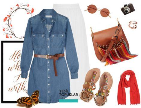Tatil için Tesettür Giyim Kombinleri