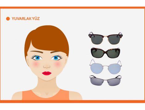 Yuvarlak Yüz Şekline Göre Güneş Gözlüğü Seçimi