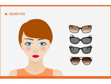 Üçgen Yüz Şekline Göre Güneş Gözlüğü Seçimi