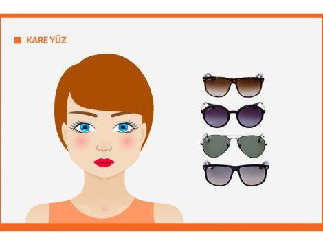 Kare Yüz Şekline Göre Güneş Gözlüğü Seçimi