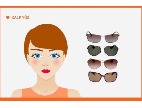 Kalp Yüz Şekline Göre Güneş Gözlüğü Seçimi