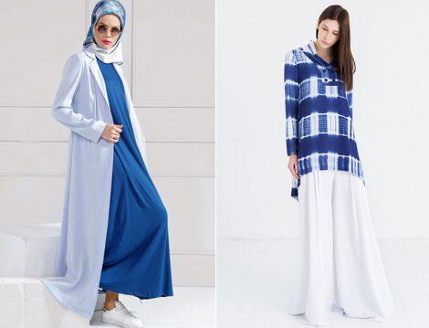 Yazlık Mavi Beyaz Giyim Modelleri