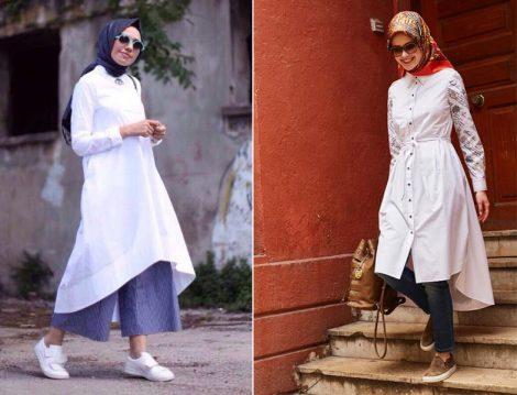 2016 Yaz Beyaz Tunik Kap Gömlek Modelleri
