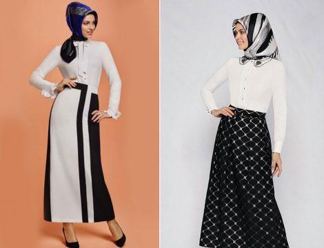 Armine 2016 Yaz Siyah Beyaz Etek Modelleri