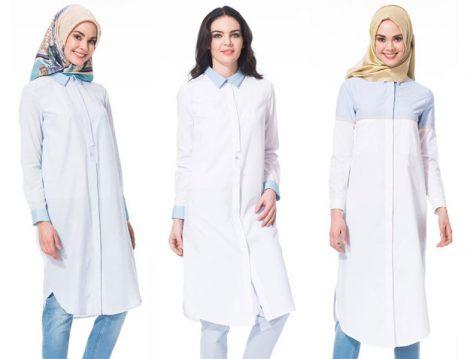 Kayra 2016 Beyaz Tunik Gömlek Modelleri