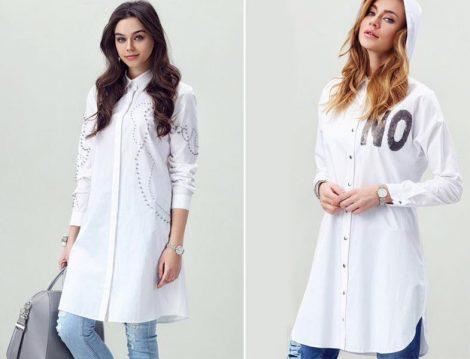 Moodbaic 2016 Yaz Beyaz Gömlek Modelleri