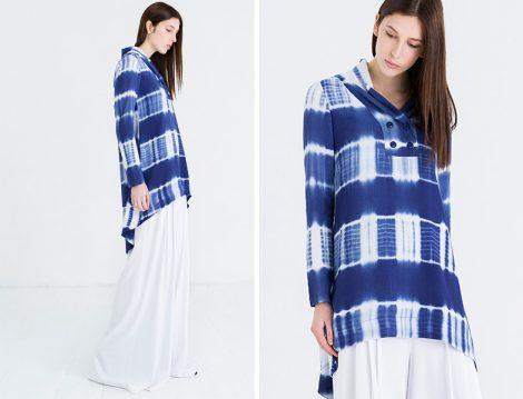 Şile Bezi Batik Tesettür Tunik