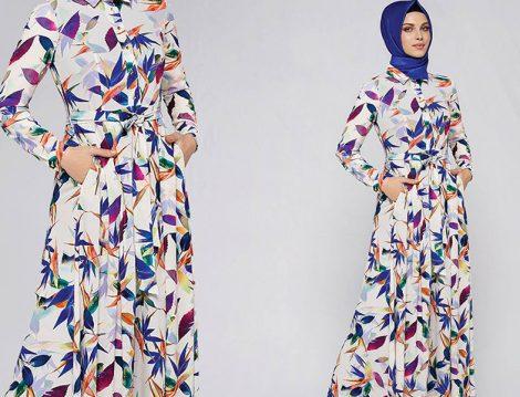 Armine Giyimin İndirimli Yazlık Desenli Elbise Modelleri