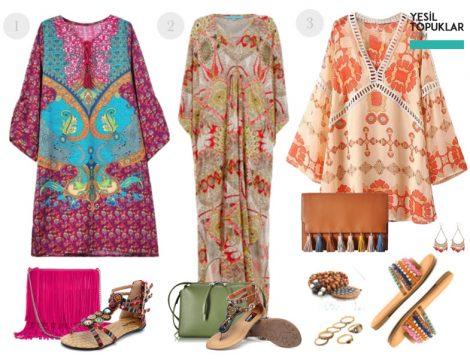 Batik Desenli Tesettür Kombinler
