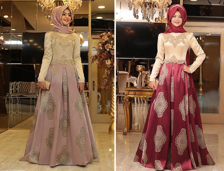 69977795e9472 Pınar Şems Harem Abiye Elbise Modelleri | Resimlerle Tesettür Giyim ...
