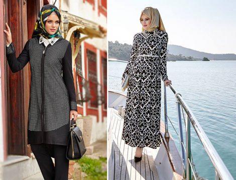 Alvina Siyah Beyaz Giyim Modelleri
