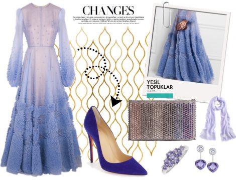 Genç Tesettür Abiye Elbise Kombinleri 2016 - 2017