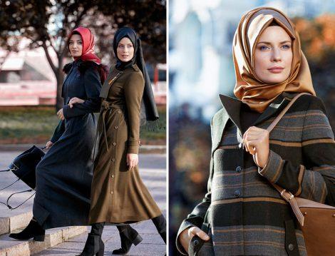 Nihan Giyim Kışlık Tesettür Pardesü Modelleri 2017