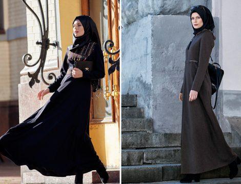 Nihan Giyim Tesettür Elbise Modelleri 2017