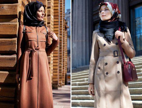 Nihan Giyim Tesettür Trençkot Modelleri 2017