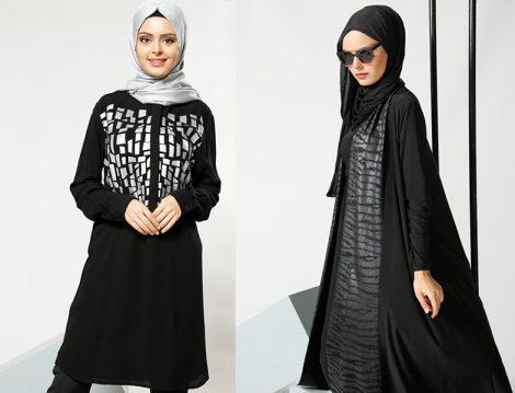 Refka Siyah Tunik ve Hırka Modelleri