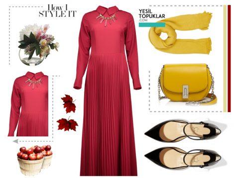 Sonbaharlık Tesettür Giyim Kombinleri