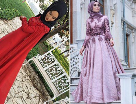 Tesettür Abiye Elbise Modelleri 2016 - 2017