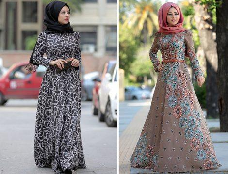 Zehrace Desenli Elbise Modelleri