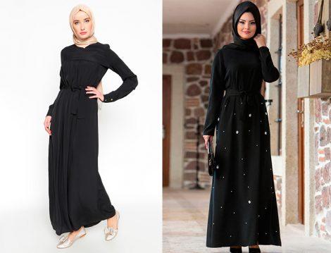 Sonbaharın En Şık 10 Siyah Tesettür Elbisesi