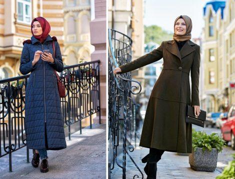 2017 Tesettür Palto ve Kaban Modelleri