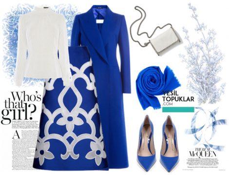 Mavi Tesettür Giyim Kombinleri 2016-2017