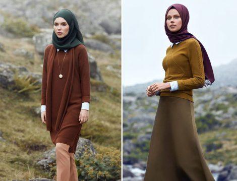 2017 Tesettür Giyim Kış Modelleri