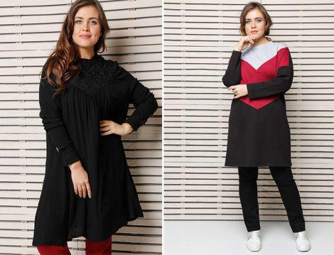 Büyük Bedende 2017'nin En Şık Tesettür 15 Tunik Modeli
