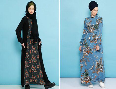 Desenli Elbiselerle Kış Mevsimine Yaz Etkisi