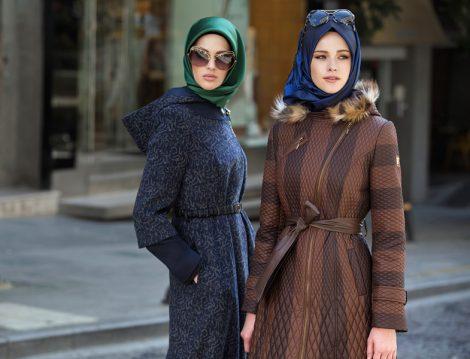 Tekbir Giyim 2016-2017 Sonbahar Kış Tesettür Kaban Modelleri