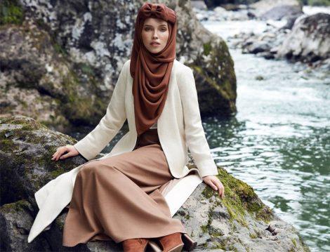 Tesettür Triko Uzun Etek Modeli