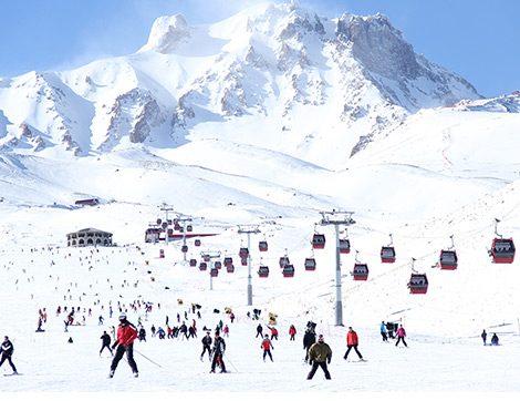 Türkiye'nin Alpleri Konumunda Bulunan Erciyes'te Kar Bereketi