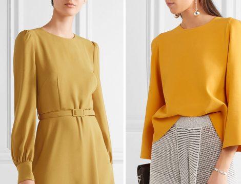 Sarı Tesettür Giyim Modelleri 2017