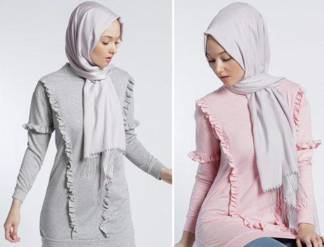 Fırfır Detaylı Tunik ve Elbise Modelleri